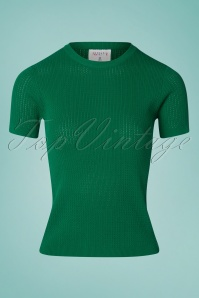 Compania Fantastica 60s Eliana Knitted Top in Green