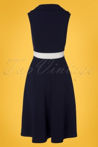 Vintage Chic 28750 Pencildress Blue White  20190417 0007W