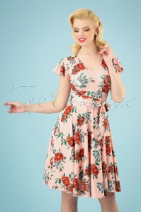 50s Abigail Rose Swing Dress in Pink