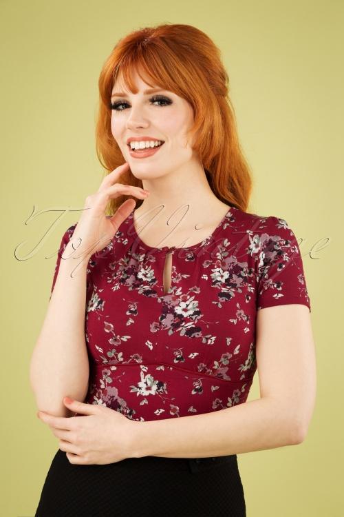 Vive Maria 27022 Mon Amour Red Floral Purple Tshirt 20190207 1W