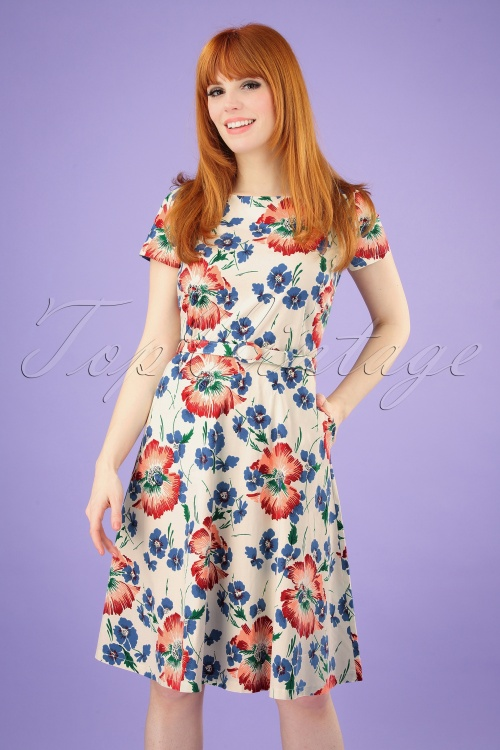 King Louie 27207 Betty Dress in Floral Print 20190227 002 020W