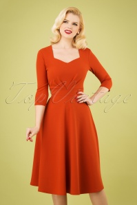 50s Ruby Swing Dress in Cinnamon