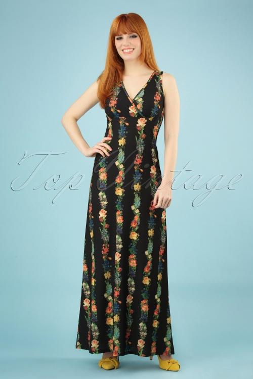 LaLamour 26830 Long Singlet Floral Maxi Dress 20190307 002 020W