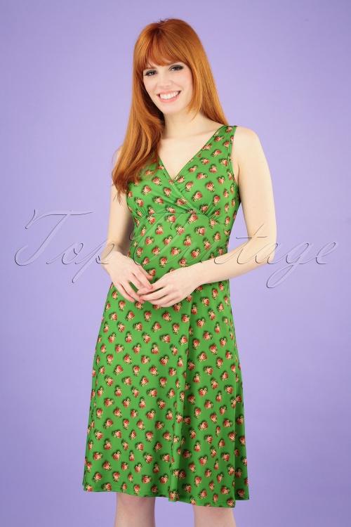 LaLamour 26831 Singlet Dress Green Roses 20190307 001 020W