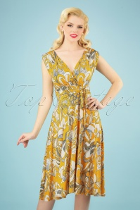 Vintage Chic 28783 50s Jane Floral Swing Dress 20190314 002 020W