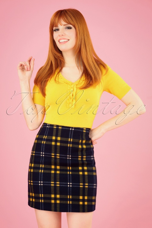 Louche 28137 Sibel Checkmate Mini Skirt 20190215 001W 020W