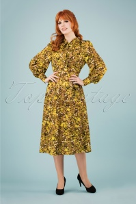 Louche 28288 Fiorella Long Yellow Dress 20190215 1W