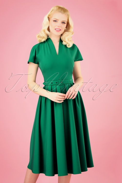Miss Candyfloss 28676 Green Swing Dress 20190313 001 020W