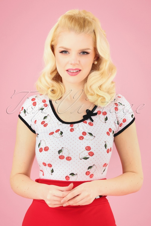Sassy Sally Cherry Polkadot Top 111 59 15296 20150318 0002 020W