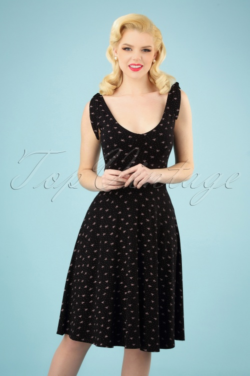 TopVintage Boutique Collection 28924 Black Bow Dress 20190222 003 020W