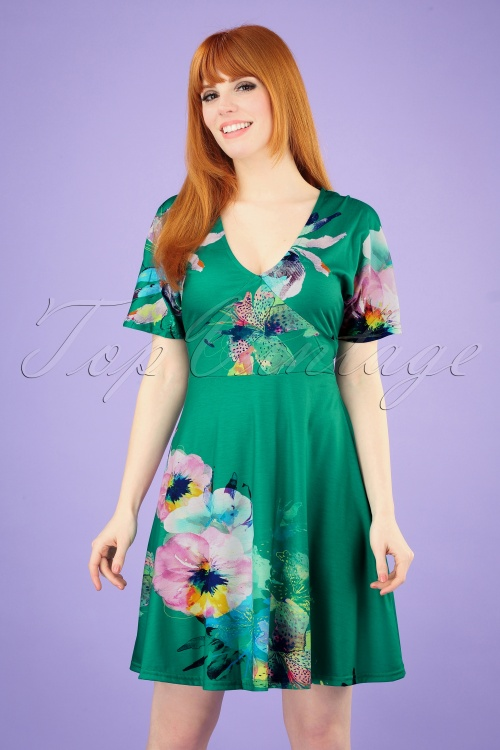 Smash! 27867 Green Floral Dress 20190308 003 020W