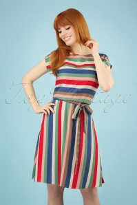 60s Connie Cabana Stripes Dress in Multi