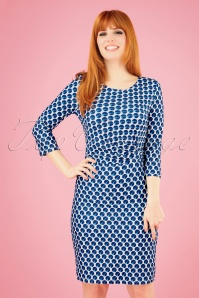 Smashed Lemon 27743 Blue and white Pencil Dress 1 020W