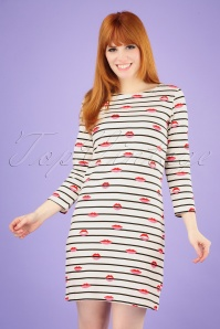 Sugarhill Brighton 27672 Brighton Striped Lips Dress 20190311 009 020W