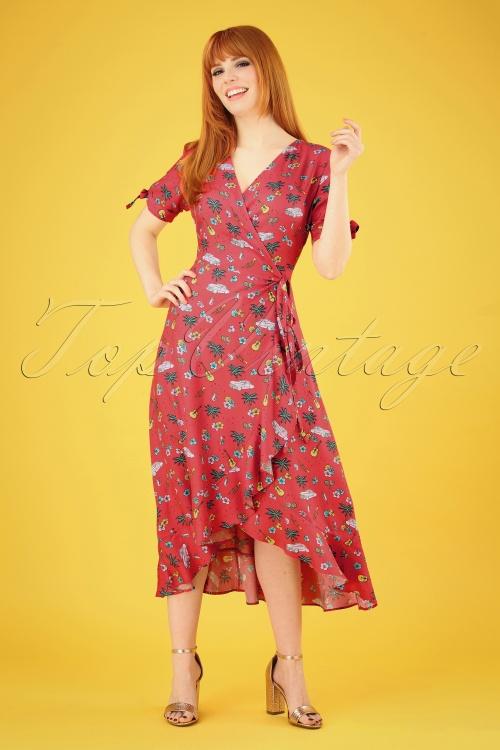 a71623aa21b81 Sugarhill Brighton 27669 Jackie Hawaiian Red Dress 20190312 004 020W