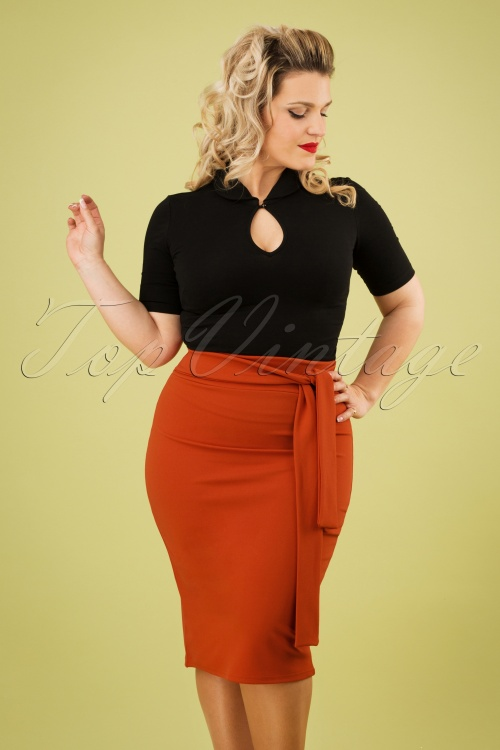 Vintage Chic 28723 Skirt Pencil Cinnamon 20190207 1W