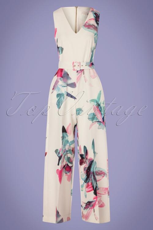 Closet 30162 Jumpsuit Multifloral Elegant 170419 0003W