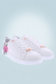 50s Lialy Rose Sneakers in White