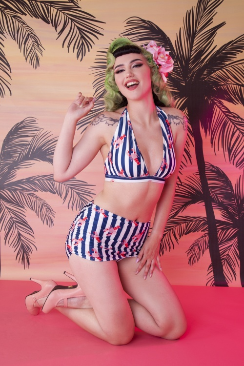 Collectif 27236 lobster ruched triangle bikini 20190418 020L