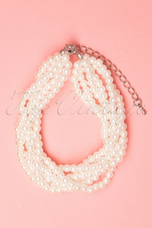 Collectif Clothing 27247 Ivory Twinted Pearl Bracelet 20190417 005W