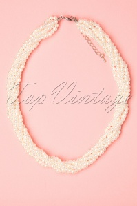 Collectif Clothing 27270 Ivory Twinted Pearl Necklace 20190417 011W