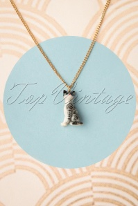 Nach Bijoux 28376 Necklace Gold Cat Grey 180419 0007W