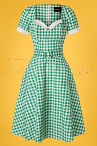 Collectif Clothing 27423 Roberta Gingham Swing Dress 20180815 001W