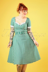 Collectif Clothing 27423 Roberta Gingham Swing Dress 20180815 008W