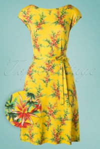 King Louie 70s Grace Nara Dress in Sunny Yellow