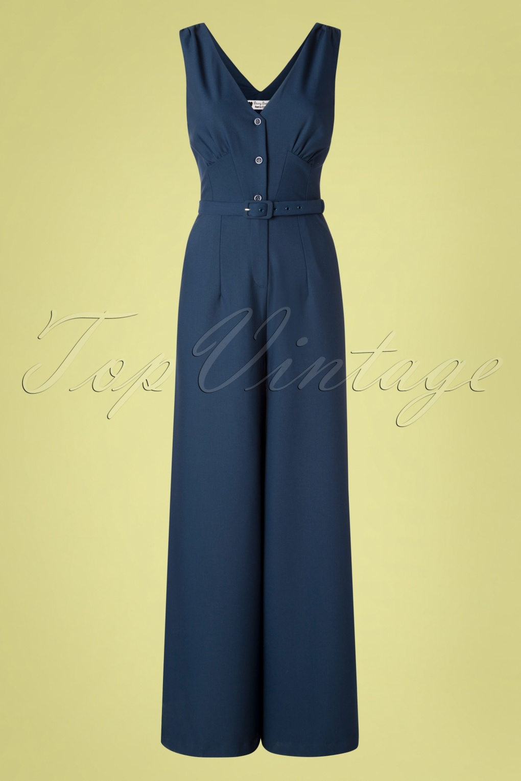 1940s Dresses and Clothing UK | 40s Shoes UK 40s Francy Jumpsuit in Navy �138.10 AT vintagedancer.com