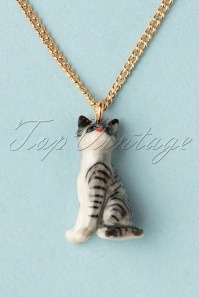 Nach Bijoux 28376 Necklace Gold Cat Grey 180419 0007 W