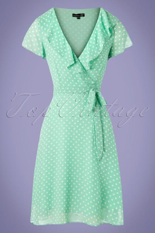 Smashed Lemon 27765 Mint Polkadot Dress 20190208 002W