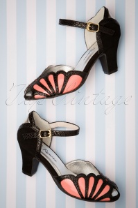 Lola Ramona 20s Ava Affection Sandals in Black and Pink