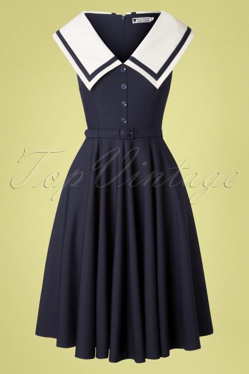 Daisy Dapper 29526 June Dress in Blue 20190418 004W