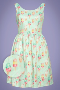 Smashed Lemon 50s Leila Ice Cream Swing Dress in Mint