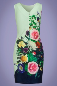 Smashed Lemon 27773 Multi floral pencil dress 20190418 021LW