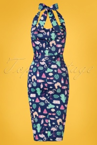 Collectif Clothing Wanda Summer Flamingo Dress 28613 20190423 006W
