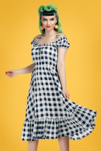 Collectif 27628 serrina gingham swing dress 20190418 020L