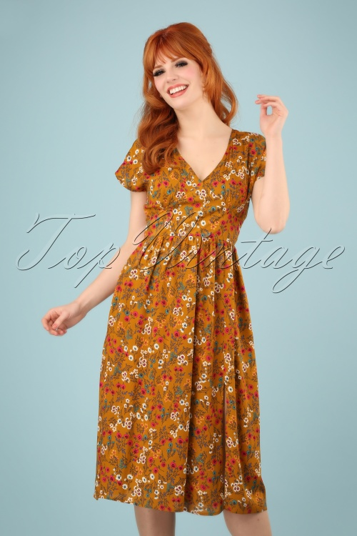 Louche 28142 Unity Posy Mustard Flower Pink Blue Green Brown 20190212 1W