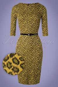Vintage Chic 29213 Mustard Pencil Leopard Yellow 20190206 003W1