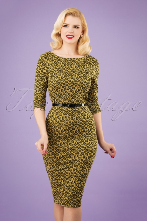 Vintage Chic 29213 Mustard Pencil Leopard Yellow 20190206 1W