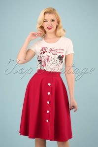Be Still My Heart Thrills Swing Skirt Années 50 en Rouge