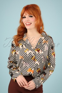60s Jude Pooch Shirt in Black and Ivory