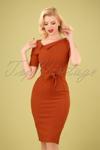 50s Jennifer Pencil Dress in Cinnamon