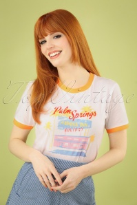 Banned Retro 50s Palm Springs T-Shirt in Cream