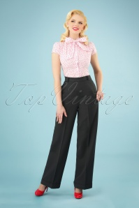 Banned Retro 40s Party On Classy Trousers in Black