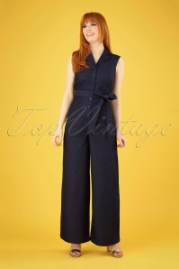 40s Yvonne Jumpsuit in Dark Denim