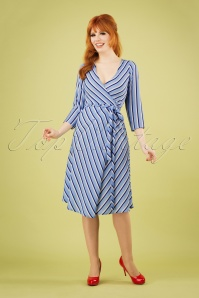 Compania Fantastica 27345 Striped Wrap Dress 20190221 1W
