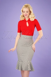 Belsira 29200 Polkadot Fishtail Skirt 20190205 003 020W