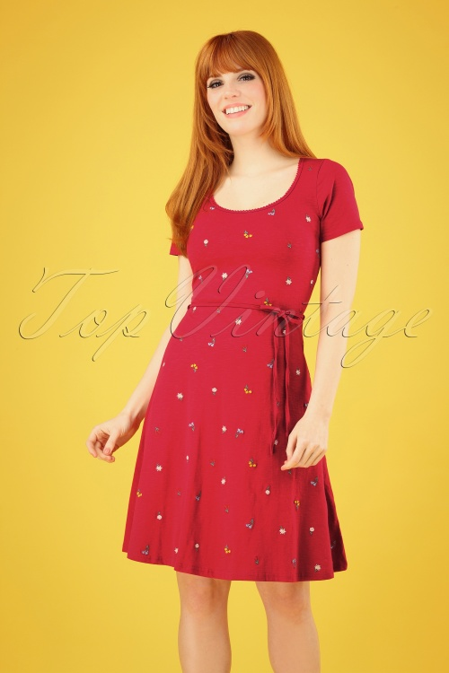 Blutsgeschwister 27295 Festtagstra Red Floral Dress 20190315 003 020W